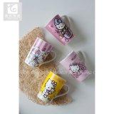 Hola taza de cerámica 14oz de la impresión divertida del gatito hecha en China