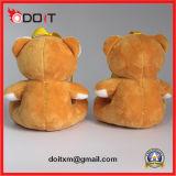 Jouet rose de peluche de broderie de jouet de peluche d'ours de jouet de peluche de proue