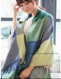 De in het groot Kleur Pashmina van de Plaid van de Manier van de Winter van Vrouwen Nieuwe Blauwe en Groene en de Sjaals van de Sjaal