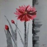 Fleur d'huile de la peinture décorative