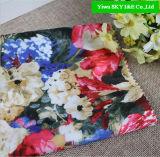 2015 Новый Дизайн печатной платы с цветочным рисунком Атласная ткань для одежды для дам
