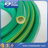 Boyau de jardin renforcé tricoté par fibre flexible d'irrigation de l'eau de PVC