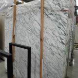 Azulejos Polished del mármol natural al por mayor de la losa de China, mármol blanco de Italia Arabescato