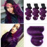 """24 de """" cabelos da onda da extensão do cabelo humano da cor Ombre"""