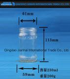Frasco de vidro do atolamento do espaço livre da impressão da tela