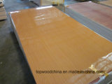 家具の使用のための15mm-18mmの高品質の低価格ポリエステルペーパーオーバーレイ合板