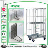 L'unità di elaborazione spinge il carrello del carrello di acquisto del metallo del negozio di alimentari