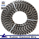 Corda rivestita del diamante della gomma Premium per la cava di pietra
