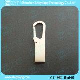 Bastone su ordinazione del USB dell'amo 8GB di Carabiner del metallo dell'argento di marchio (ZYF1738)