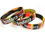 Wristband personalizzato stampato della gomma di silicone per la promozione