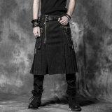 パンクの激賞の卸売のゴシック様式黒人男性のスカート(Q-225)