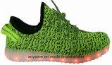 Calzado Yeezy Flyknit Boost de pared de luz LED zapatillas deportivas para los hombres y mujeres (816-7914)