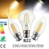 Светодиодная лампа с початков Эдисон лампу B22 привели Globle пламени свечи
