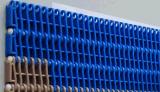 Correia transportadora modular plástica PP / POM com barreira / voo para indústria alimentar