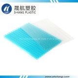 Feuille bleue de cavité de polycarbonate de Jumeau-Mur d'espace libre et de lac