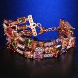 Buntes Rosen-Goldgroßhandelsarmband weibliche AAAzircon-Armbänder