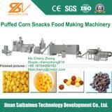 Os anéis do milho do sopro, esferas, ondulam a máquina do alimento, maquinaria