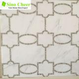 Verkaufende weißes Muster-Wasserstrahlmarmormosaik-Spitzenfliese für Wand