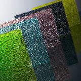 Folha gravada policarbonato colorida