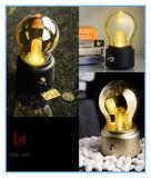 Petite lampe d'ampoule de bureau de mini rétro de DEL lumière rechargeable de nuit