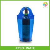 Hot Stamping PVC Tube Hand Plastic Cool Bag pour le vin