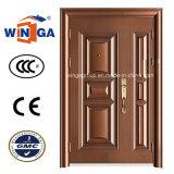 백색 색깔 장식적인 입구 강철 안전 금속 문 (W-SZ-03)