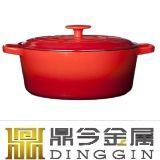 Hierro fundido esmaltado utensilios de cocina cocinar olla caliente