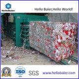 Resíduos de papel horizontal Semi-automático, máquina de reciclagem de sucata plástica