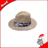 Gambler Straw Sun chapéu de palha chapéu de palha Seagrass