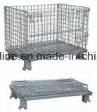 Malla de alambre de acero de la jaula de almacén (800*600*640)