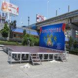 Il DJ facile installa la fase esterna di alluminio mobile di concerto di vetro acrilico della decorazione di cerimonia nuziale della piattaforma portatile