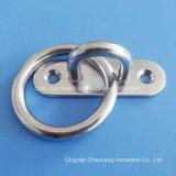 Piatto dell'occhio del rilievo del diamante dell'acciaio inossidabile con l'anello saldato