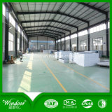 Ventana esmaltada doble de la fábrica UPVC de China