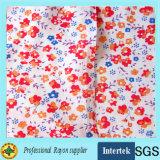 Fábrica de suprimentos de tecido de raios impressos para roupas femininas