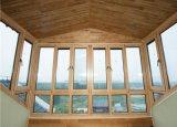 Guichet en aluminium plaqué en bois personnalisé de tissu pour rideaux pour le Sunroom