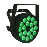 Powercon Slim Compact RGBWA UV Stage Light LED PAR com Ce Certification (18HX)