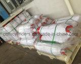 Zylinder des Acetylen-7kg gepackt auf Ladeplatten