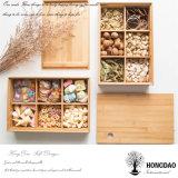 Madera Csutom Hongdao bandeja de comida del servicio de caja de madera natural sin tapa _E