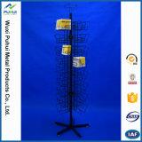 Estante de visualización de giro de acero derecho del tejido de la servilleta del suelo (PHY2055)