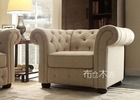 Софа Chesterfield Linen кнопки Tufted