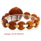 Вахта симпатичного движения кварца деревянный с деревянной полосой для женщин Fs499