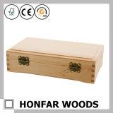事務用品の固体木のペンボックス収納箱