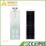 Luz de rua brilhante nova da energia solar do diodo emissor de luz 80W com iluminação de estacionamento da lâmpada do jardim do sensor