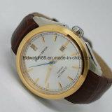 方法人の大きい腕時計の金の銀のステンレス鋼の高品質の男性の水晶は人の腕時計を見る