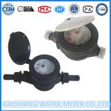 Nylon negro único medidor de agua de chorro de plástico