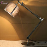 Bras de culbuteur rotatif double lampe de table de chevet pour la chambre