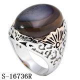Nuovi modelli Hotsale della fabbrica 925 anelli naturali d'argento degli uomini dell'agata