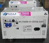 공기에 의하여 냉각되는 침묵하는 유형 휴대용 디젤 엔진 발전기