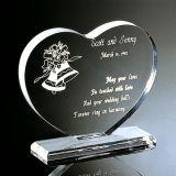 Trofeo de la concesión del vidrio cristalino de la dimensión de una variable del corazón para el recuerdo
