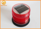 Luz de advertência de piscamento psta solar da construção de estradas do diodo emissor de luz